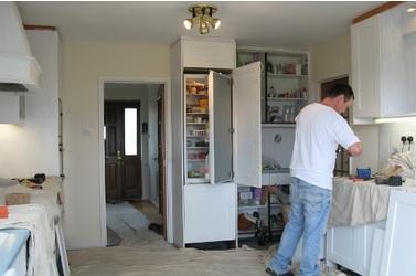Working on Mr Antcliff's kitchen