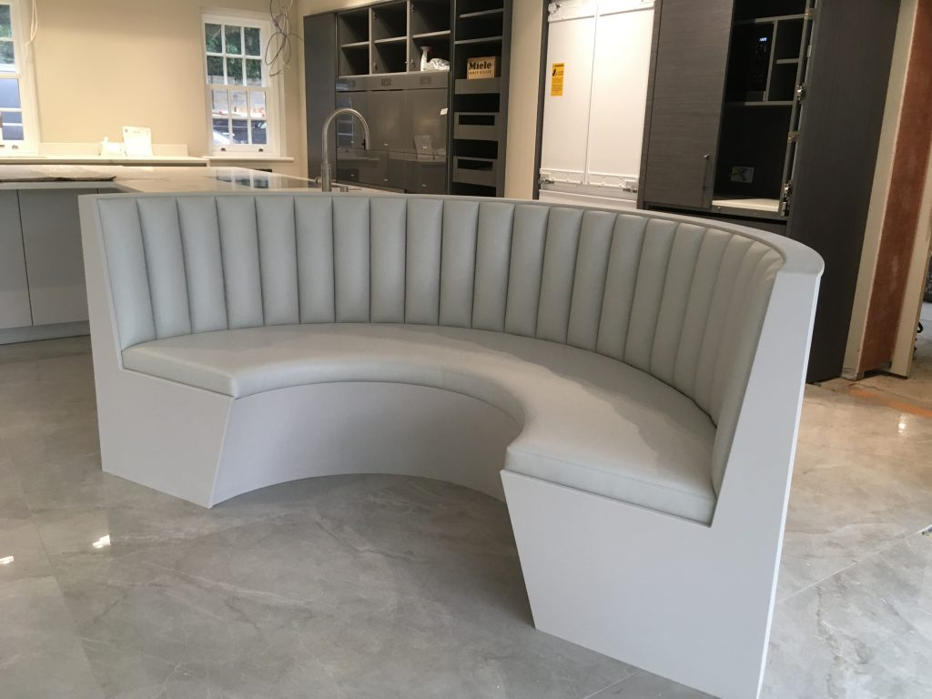 2 - curved banquette seating
