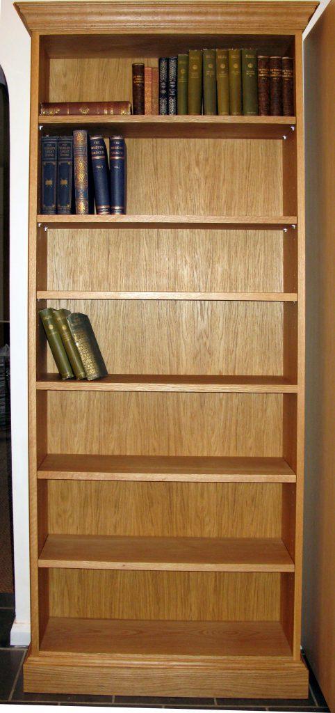 Oak bookcase front