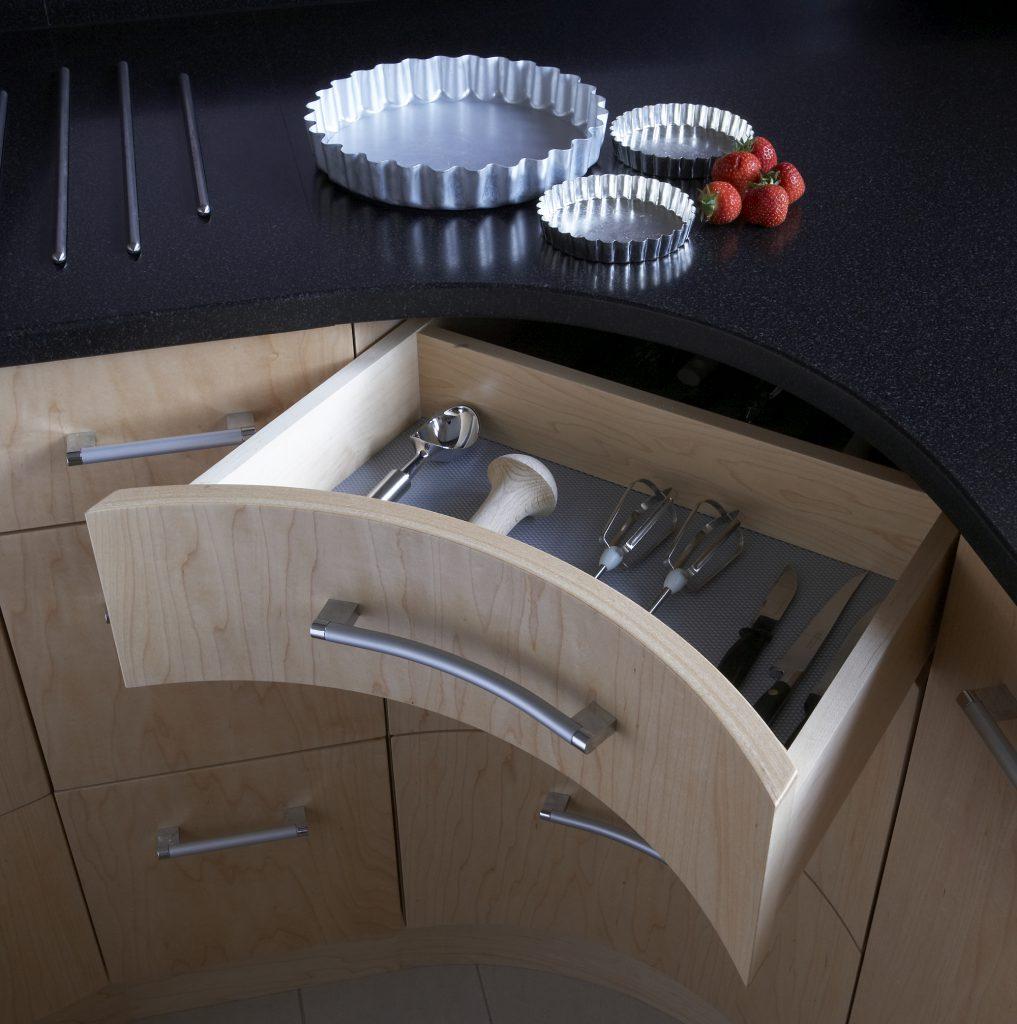 Nevill Court, Tunbridge Wells curved drawer close up