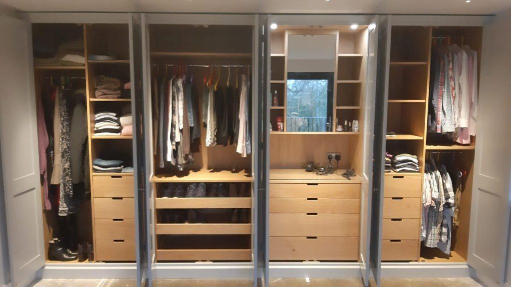 Badgers Holt opened wardrobes