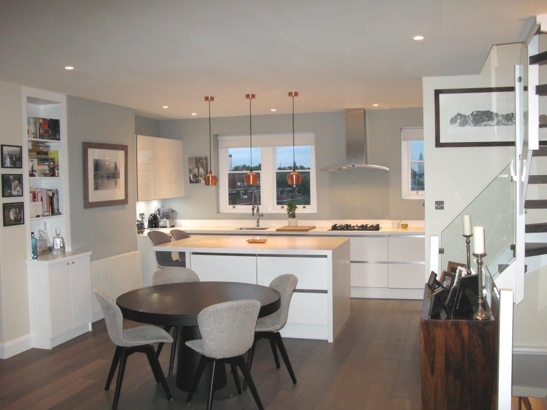 White High Gloss Kitchen Installation