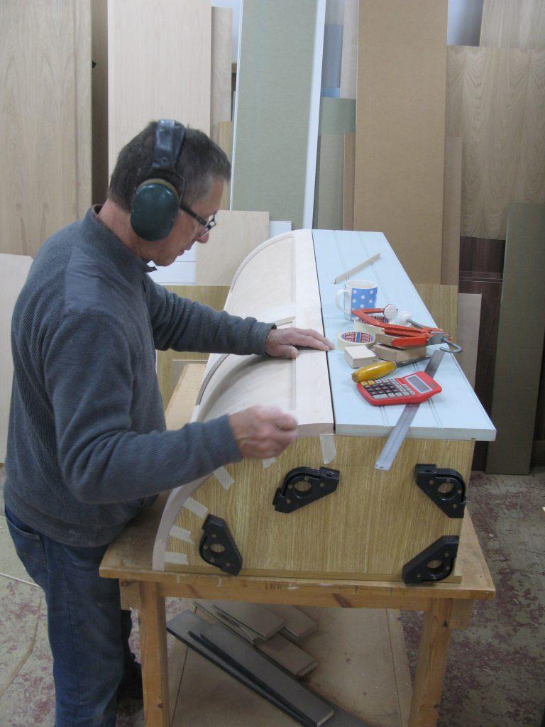 curved kitchen unit build