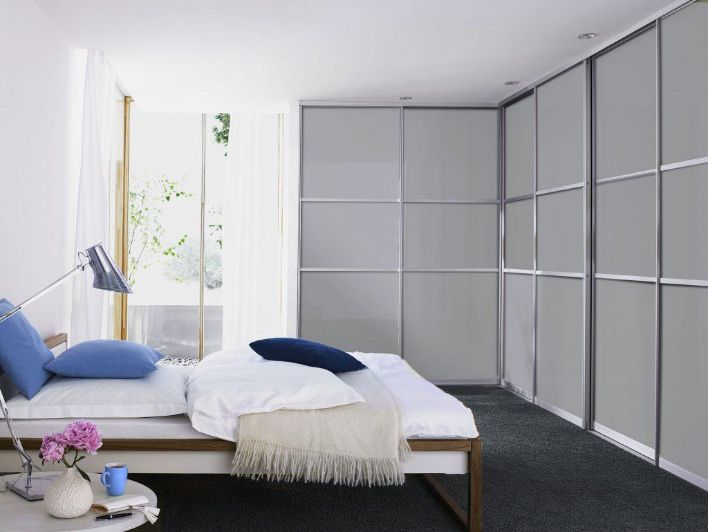 Gudcina Gleittüren Raumteiler Schranksysteme sliding wardrobe grey