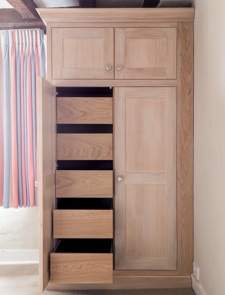 Cranesden opened wardrobe