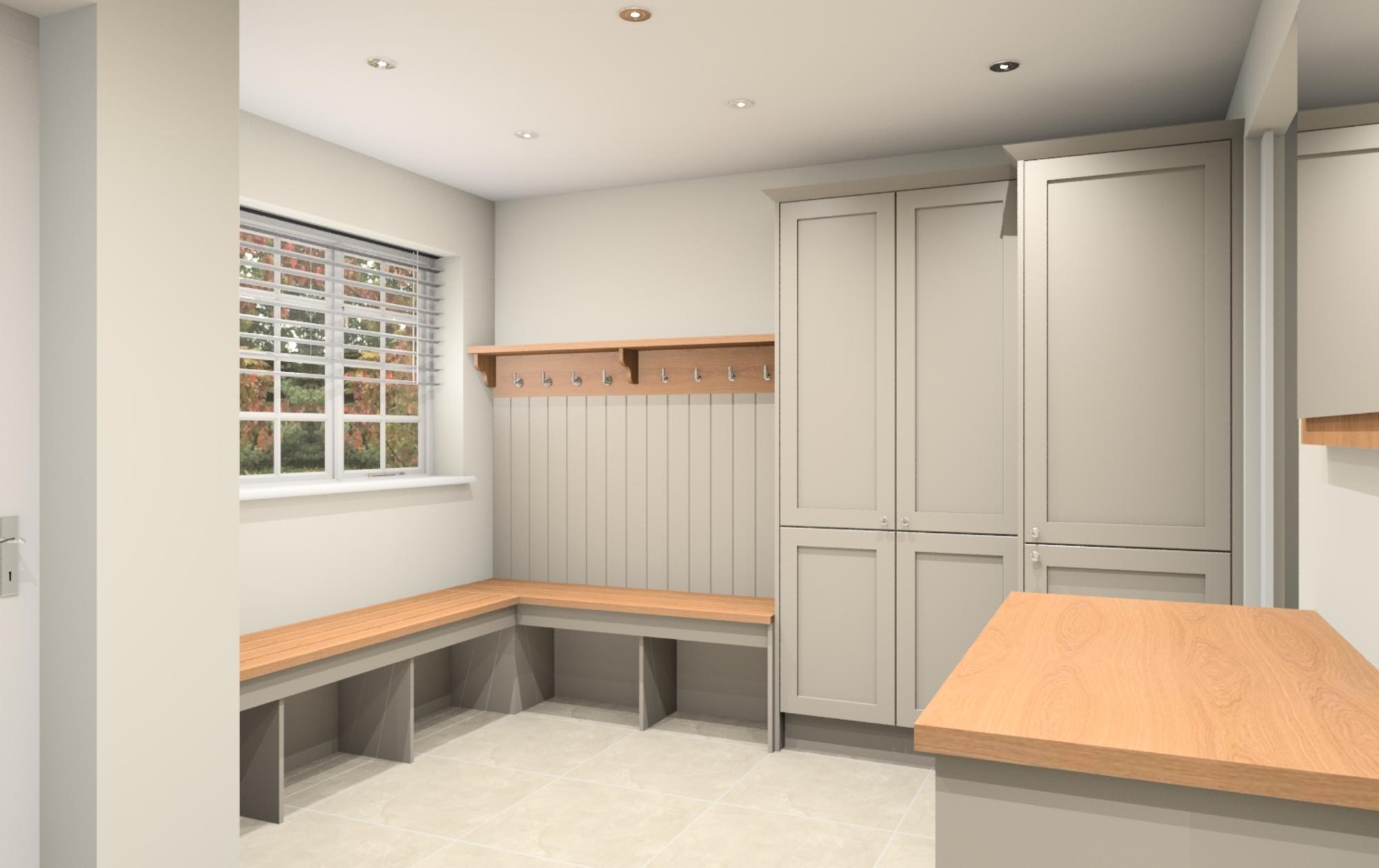 Penshurst close boot room design work