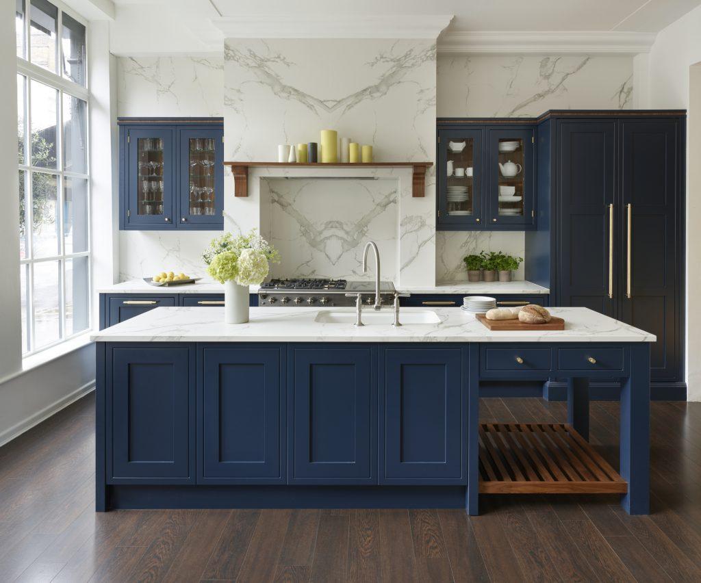 Eridge Road, Crowborough Navy blue Traditional kitchen main image