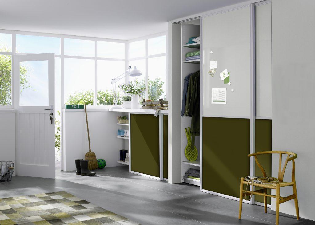 Gudcina Gleittüren Raumteiler Schranksysteme green